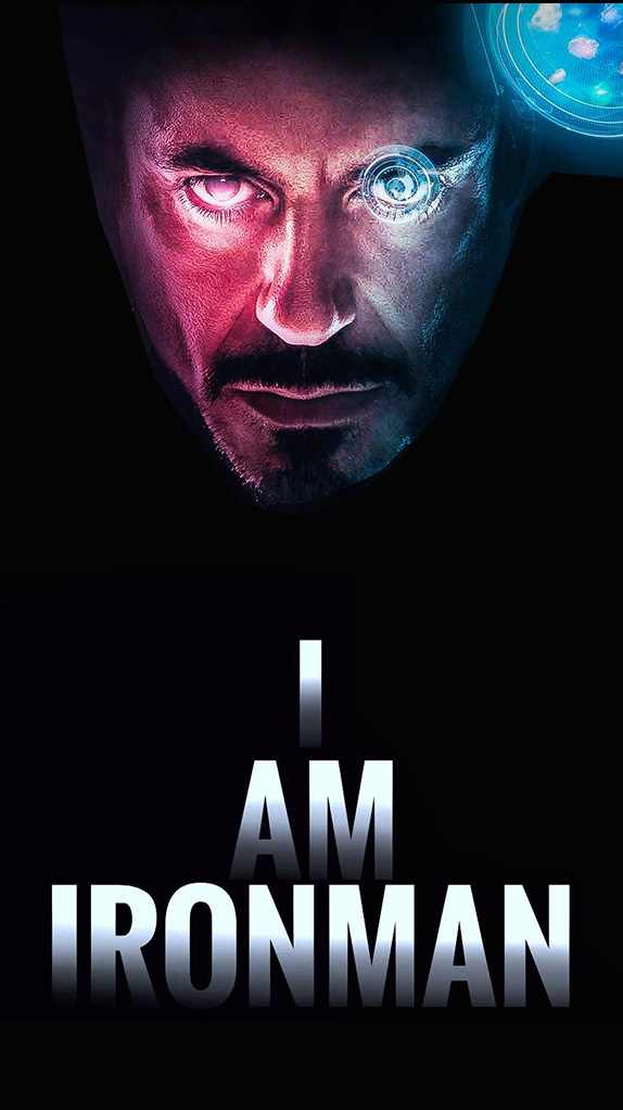 I Am Iron Man Tony Stark iPhone Wallpaper