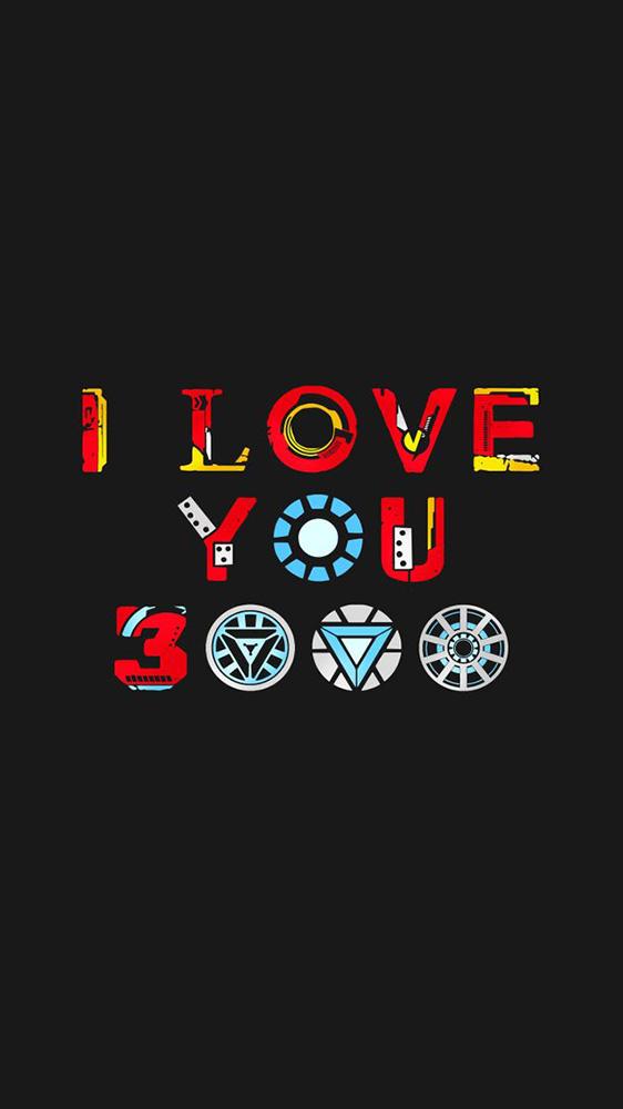 I Love You 3000 Iron Man iPhone Wallpaper