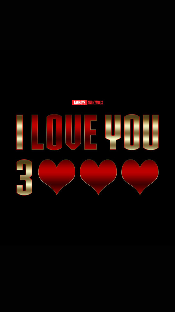 I Love You 3000 Marvel iPhone Wallpaper