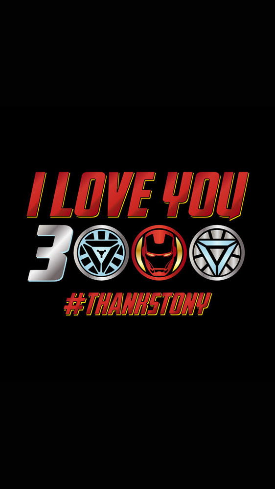 I Love You 3000 Thanks Tony iPhone Wallpaper