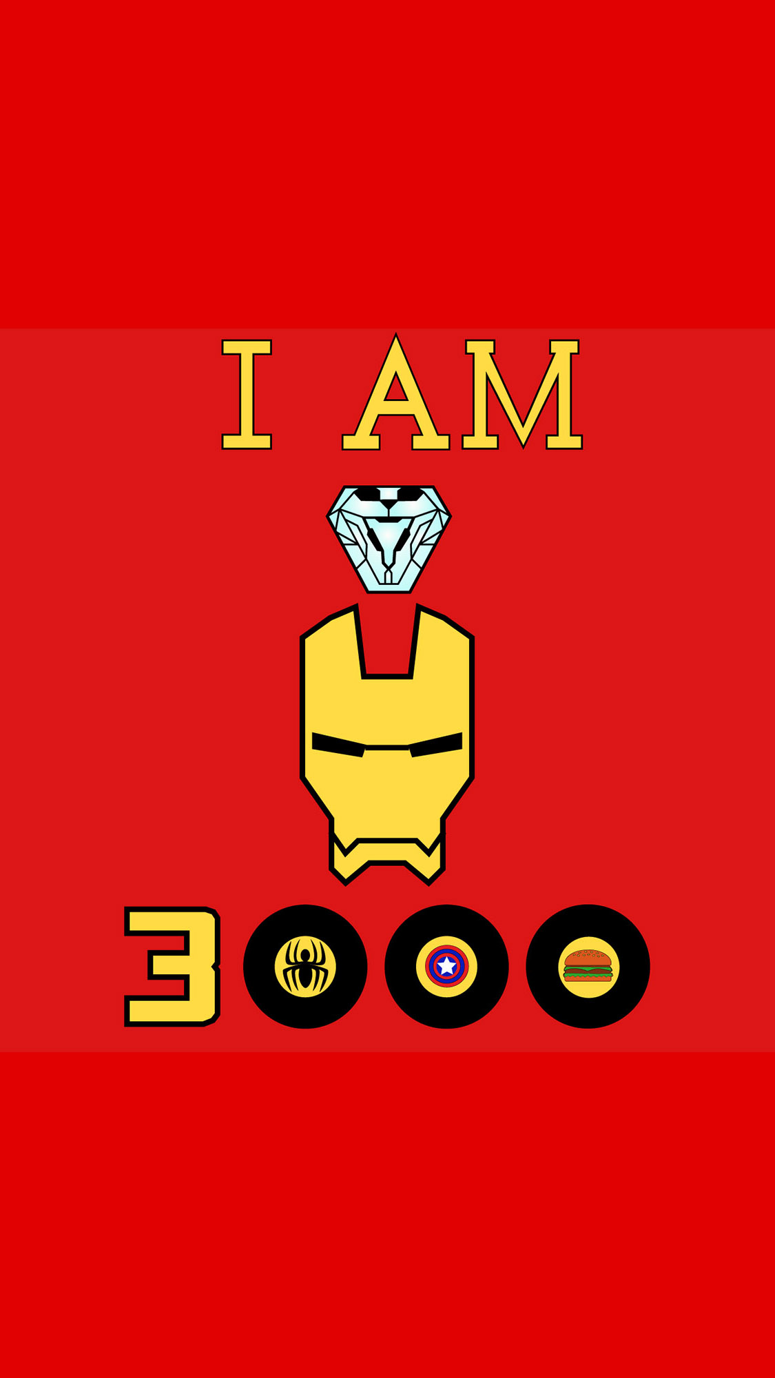 I am Iron Man Love You 3000 iPhone Wallpaper