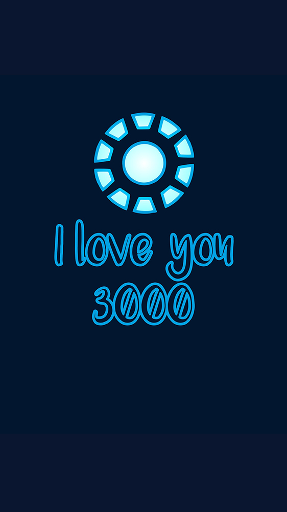 I love you 3000 iPhone Wallpaper