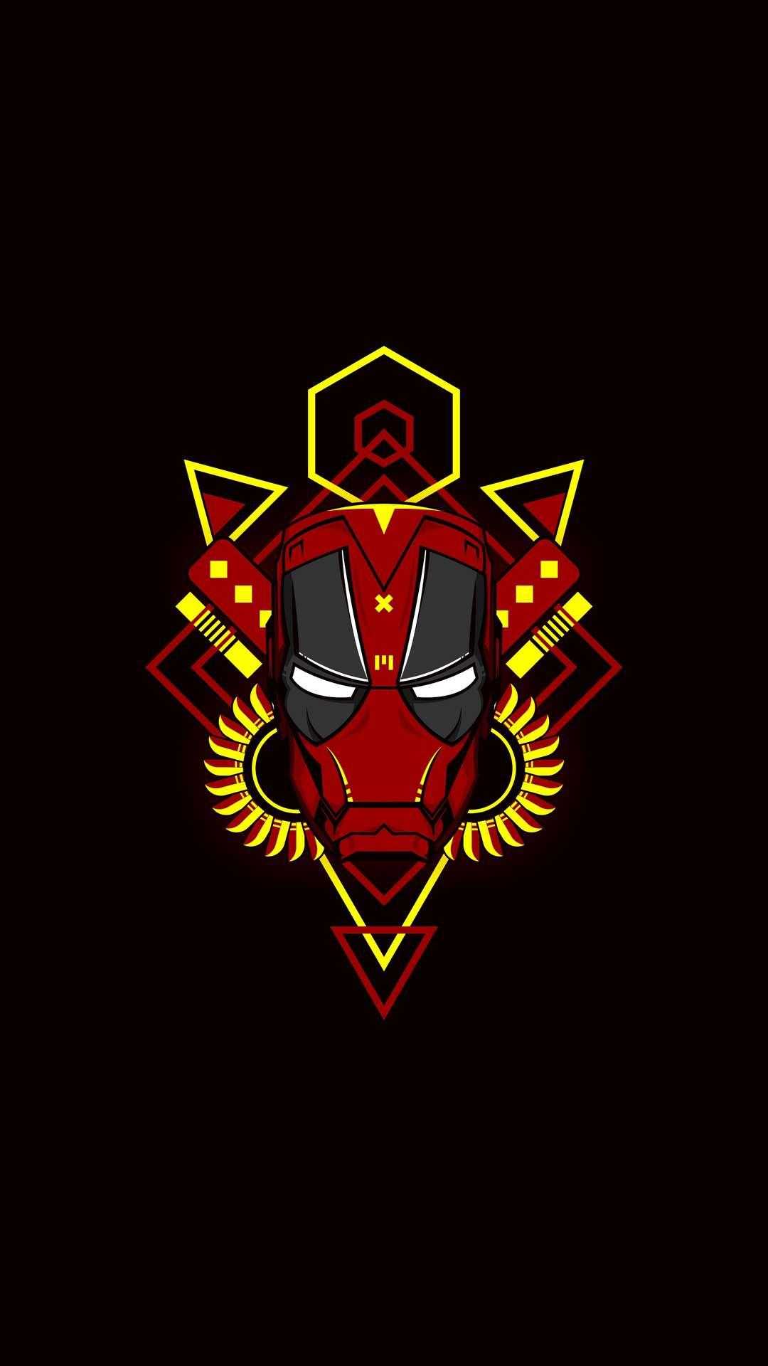 Iron Deadpool iPhone Wallpaper