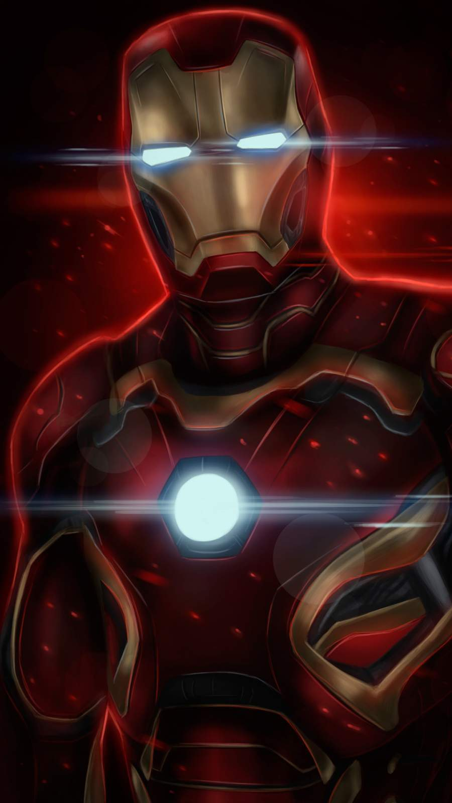 Iron Man Art MK 7 iPhone Wallpaper