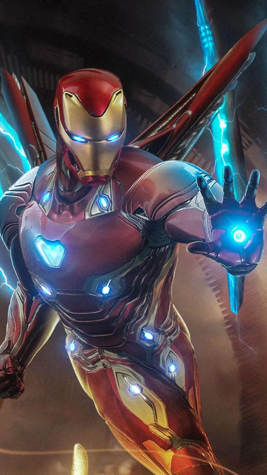 Iron Man Endgame Fighting iPhone Wallpaper