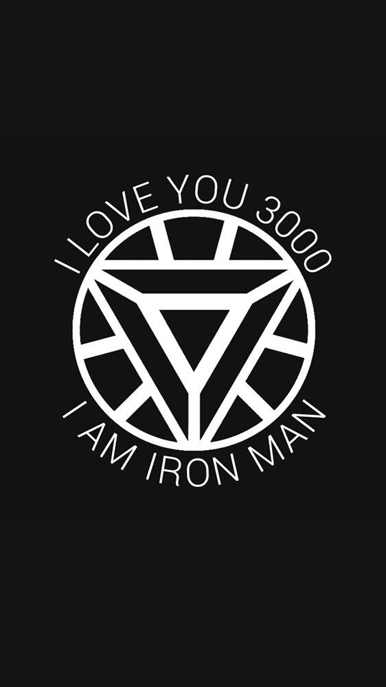Iron Man I Love You 3000 Arc Reactor iPhone Wallpaper