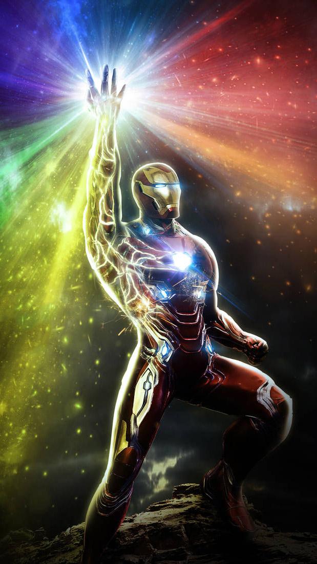 Iron Man Infinity Guantlet iPhone Wallpaper