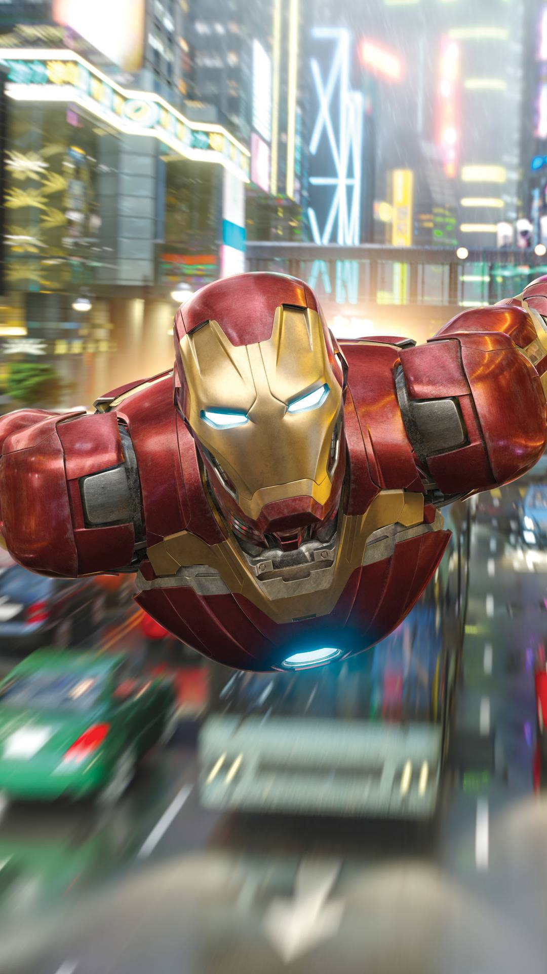 Iron Man Mark 43 Flight iPhone Wallpaper