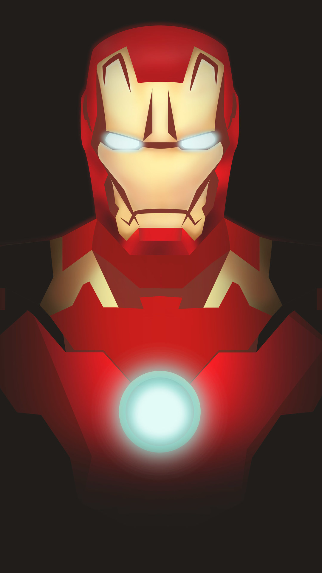 Iron Man Mark 43 Minimal iPhone Wallpaper