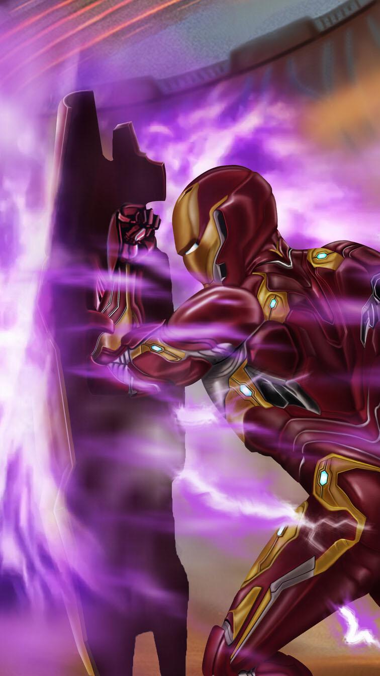 Iron Man Mark 50 Shield iPhone Wallpaper