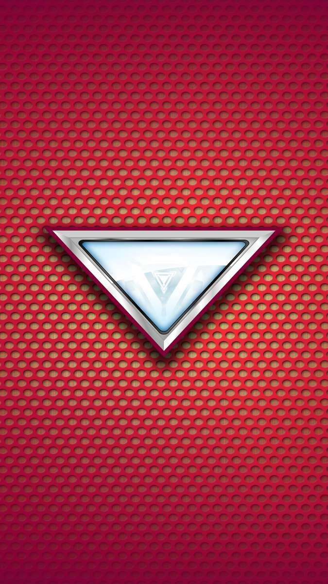Iron Man Mark 6 Arc Reactor iPhone Wallpaper