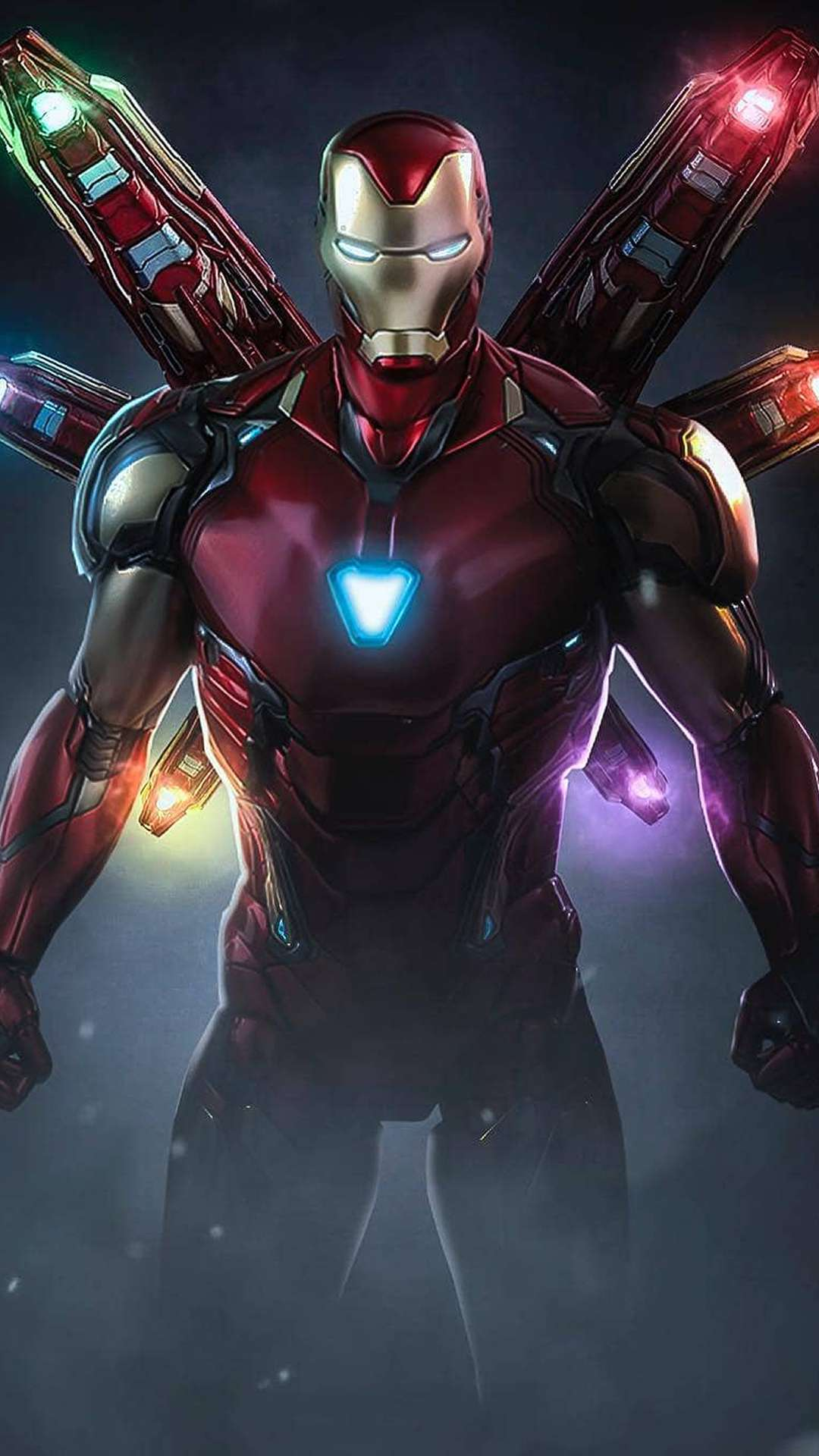 Iron Man Mark 85 Infinity Stone Armor iPhone Wallpaper