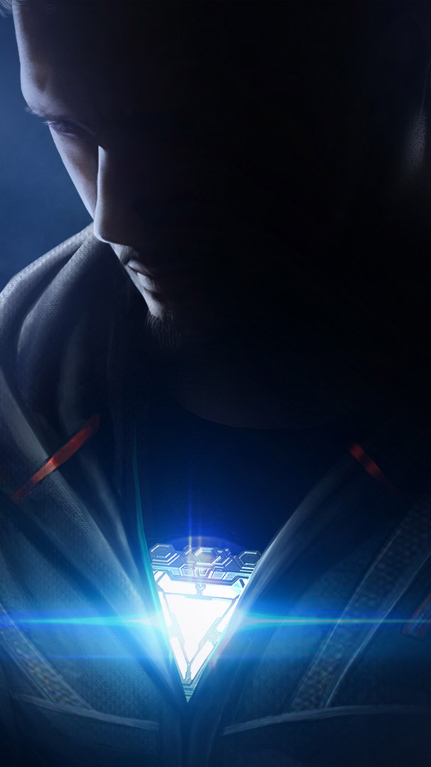 Iron Man Nano Arc Reactor iPhone Wallpaper