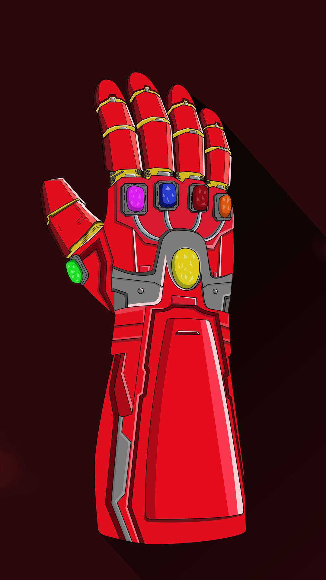 Iron Man Nano Infinity Gauntlet iPhone Wallpaper