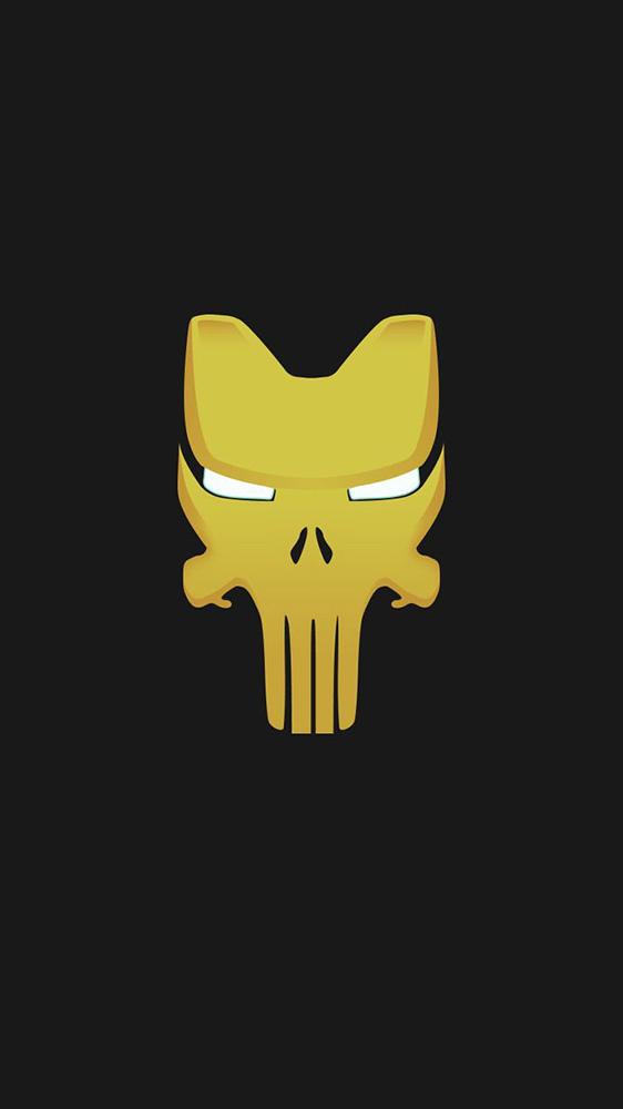 Iron Man Punisher Mode iPhone Wallpaper