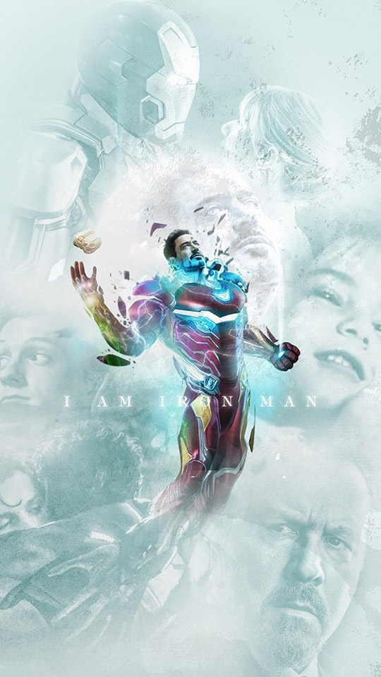 Iron Man Sacrifice for his Daughter iPhone Wallpaper