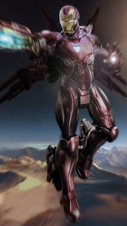 Iron Man Weapons Sky Battle iPhone Wallpaper