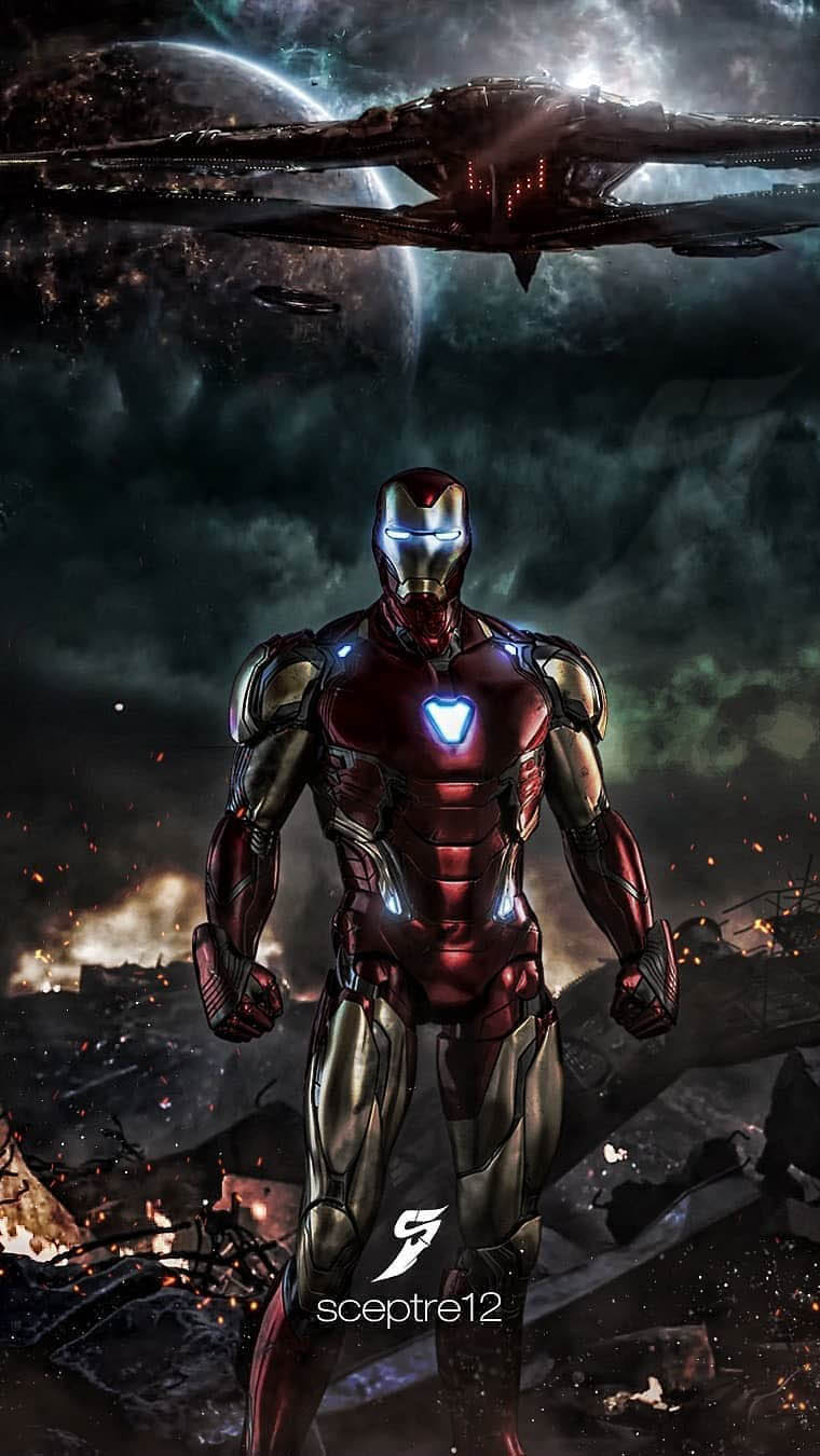 Iron Man vs Thanos Army iPhone Wallpaper