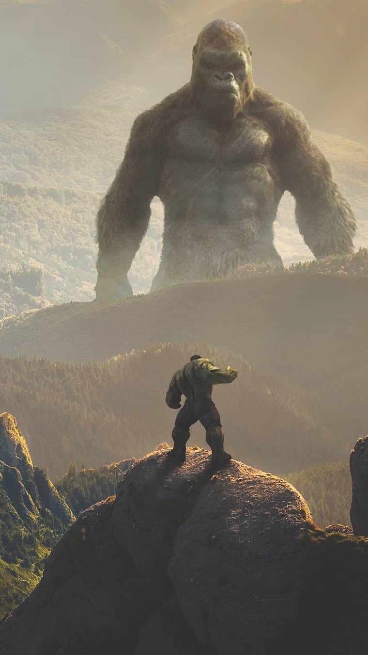 King Kong vs Hulk iPhone Wallpaper