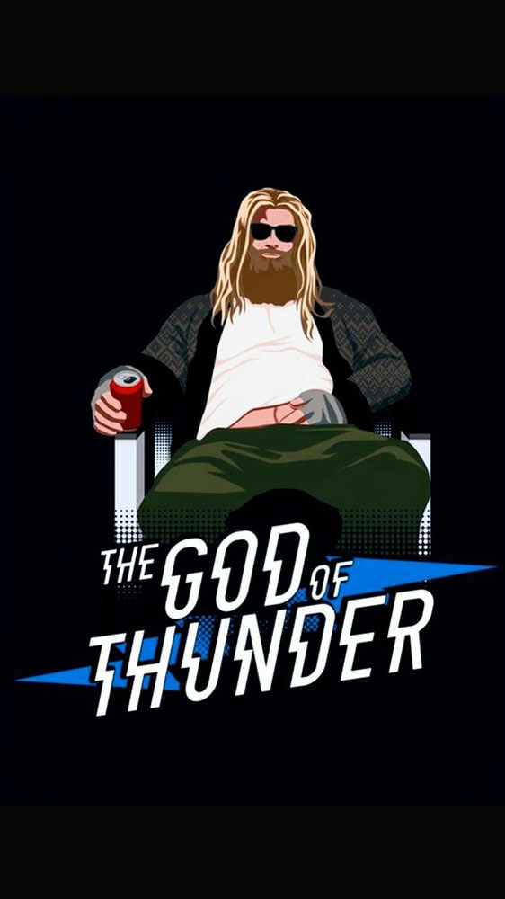 Lazy Thor The God of Thunder iPhone Wallpaper