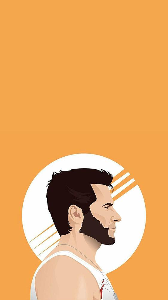 Logan Wolverine Minimalistic iPhone Wallpaper