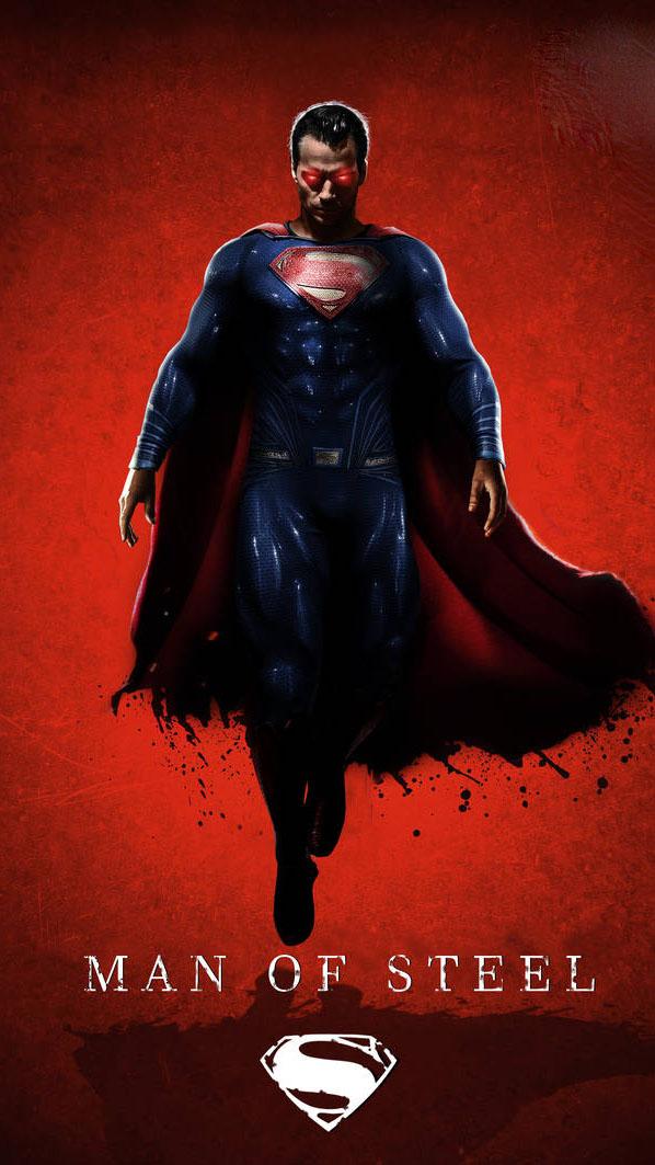 Man of Steel Evil Superman iPhone Wallpaper