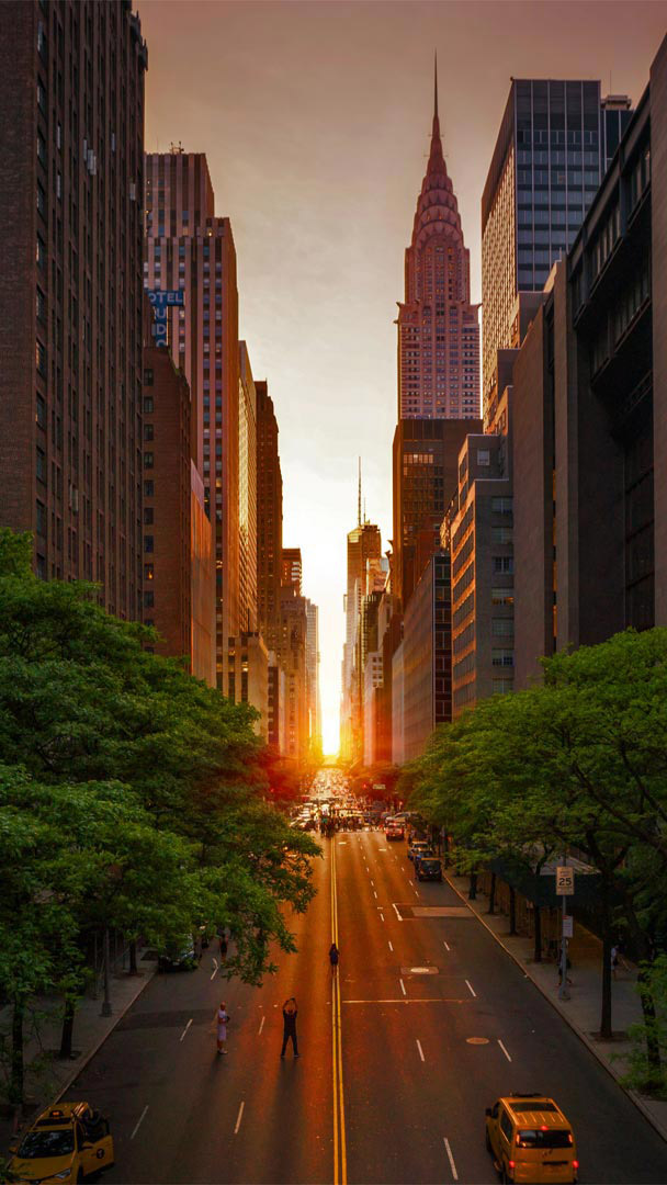 Manhattan Sunset iPhone Wallpaper