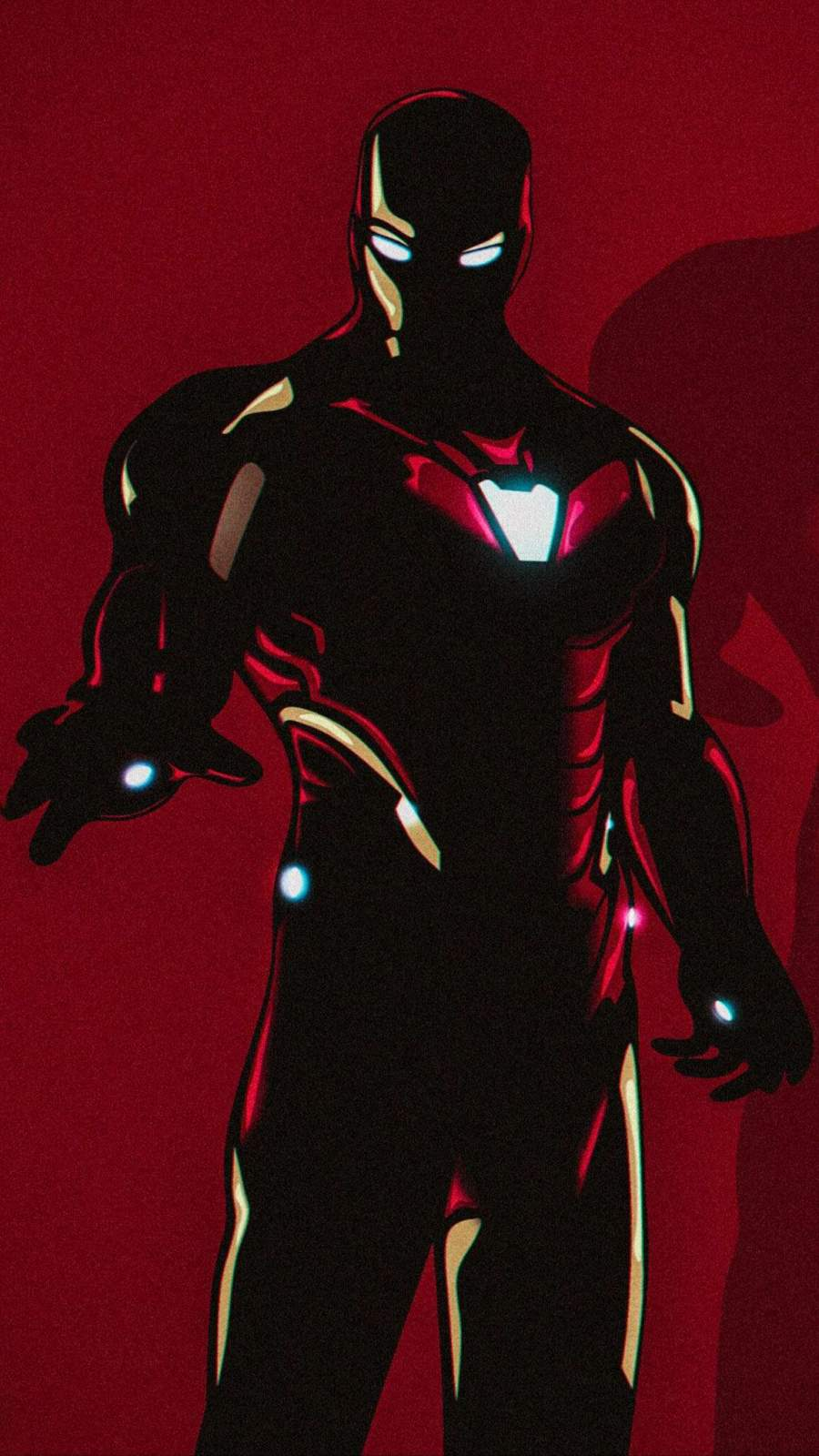 Mark85 Dark Armor Iron Man iPhone Wallpaper