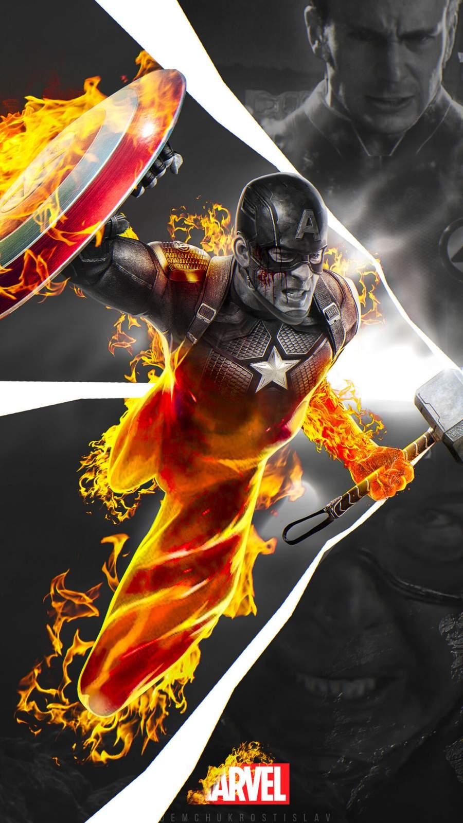 Marvel Captain America iPhone Wallpaper