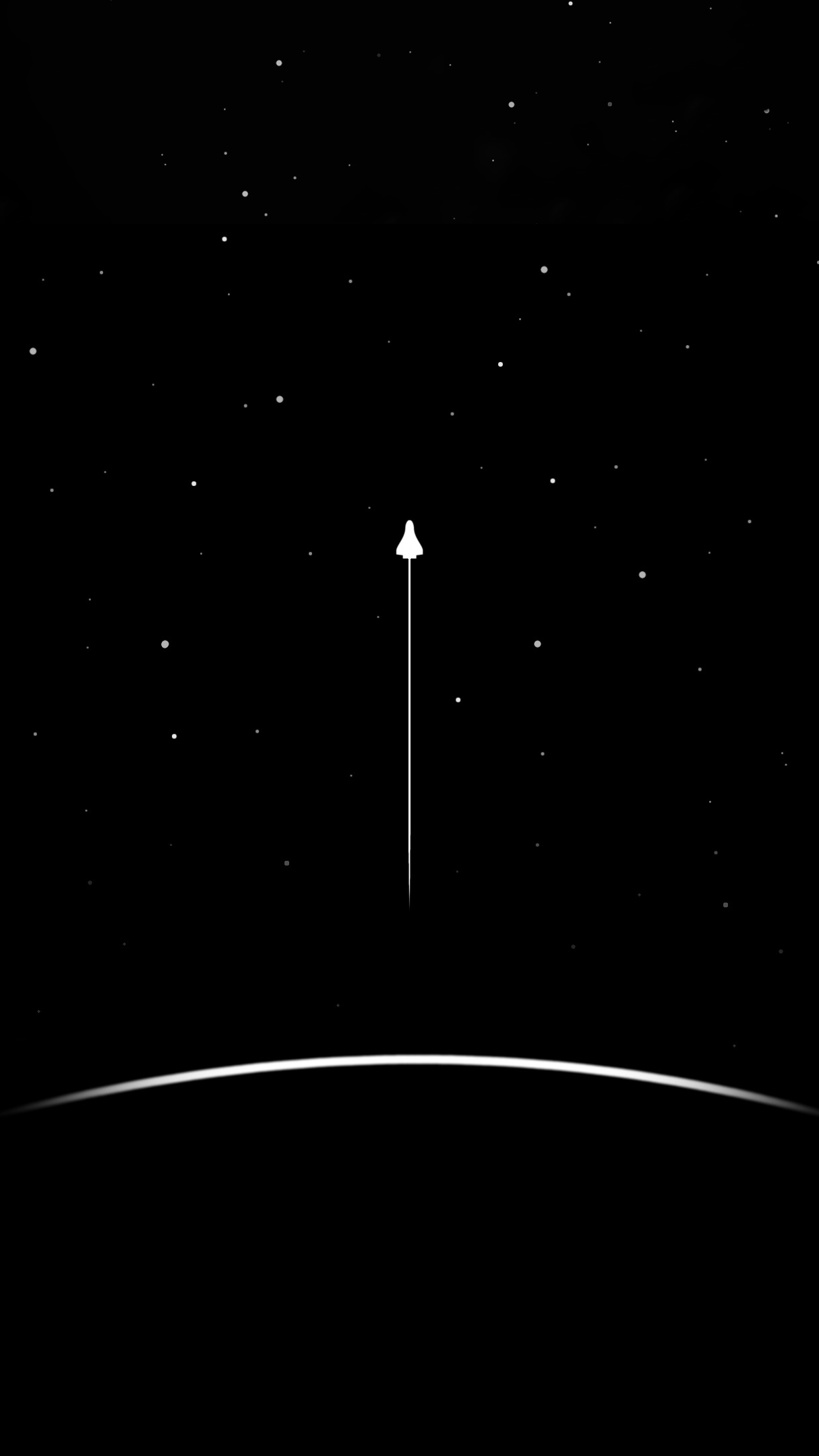 Minimal Space Launch iPhone Wallpaper