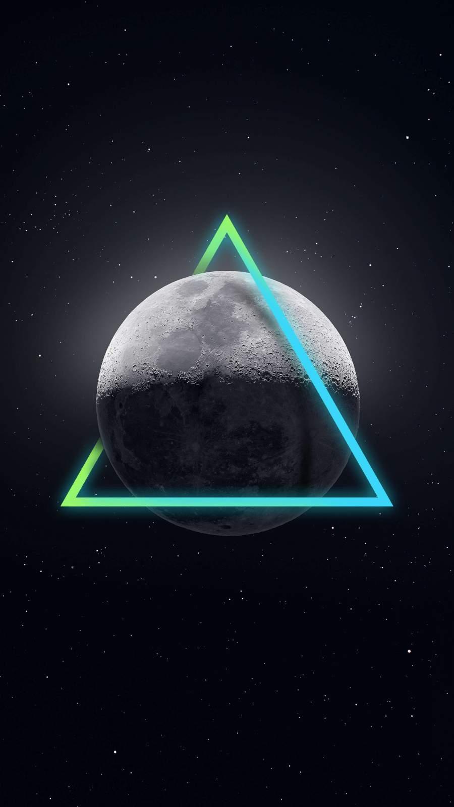 Moon Triangle iPhone Wallpaper iPhone Wallpaper