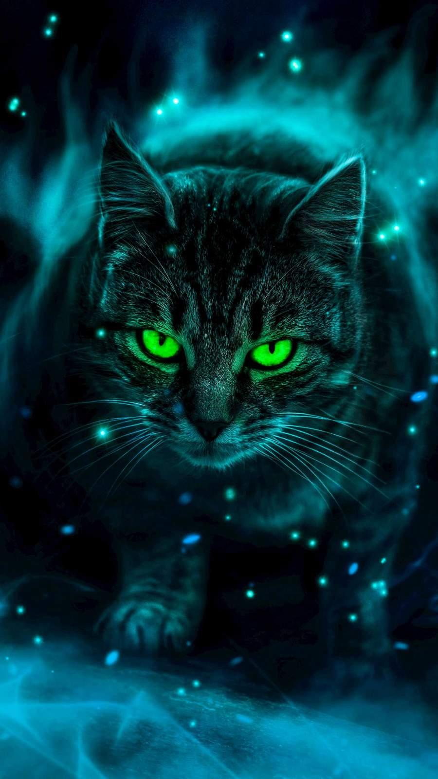 Mystic Cat iPhone Wallpaper