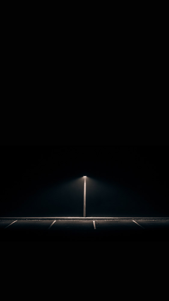 Night Road iPhone Wallpaper