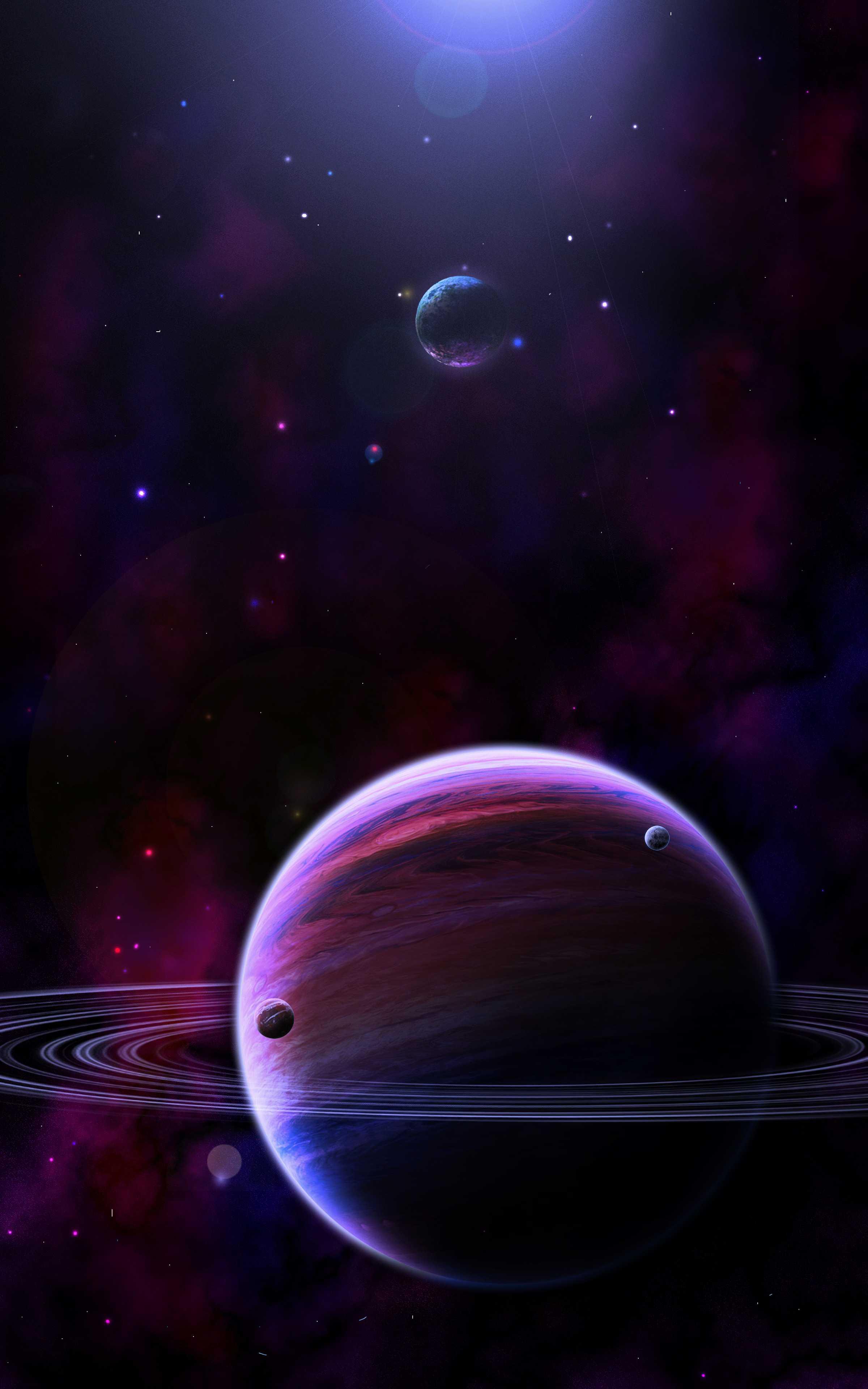 Saturn Dark iPhone Wallpaper