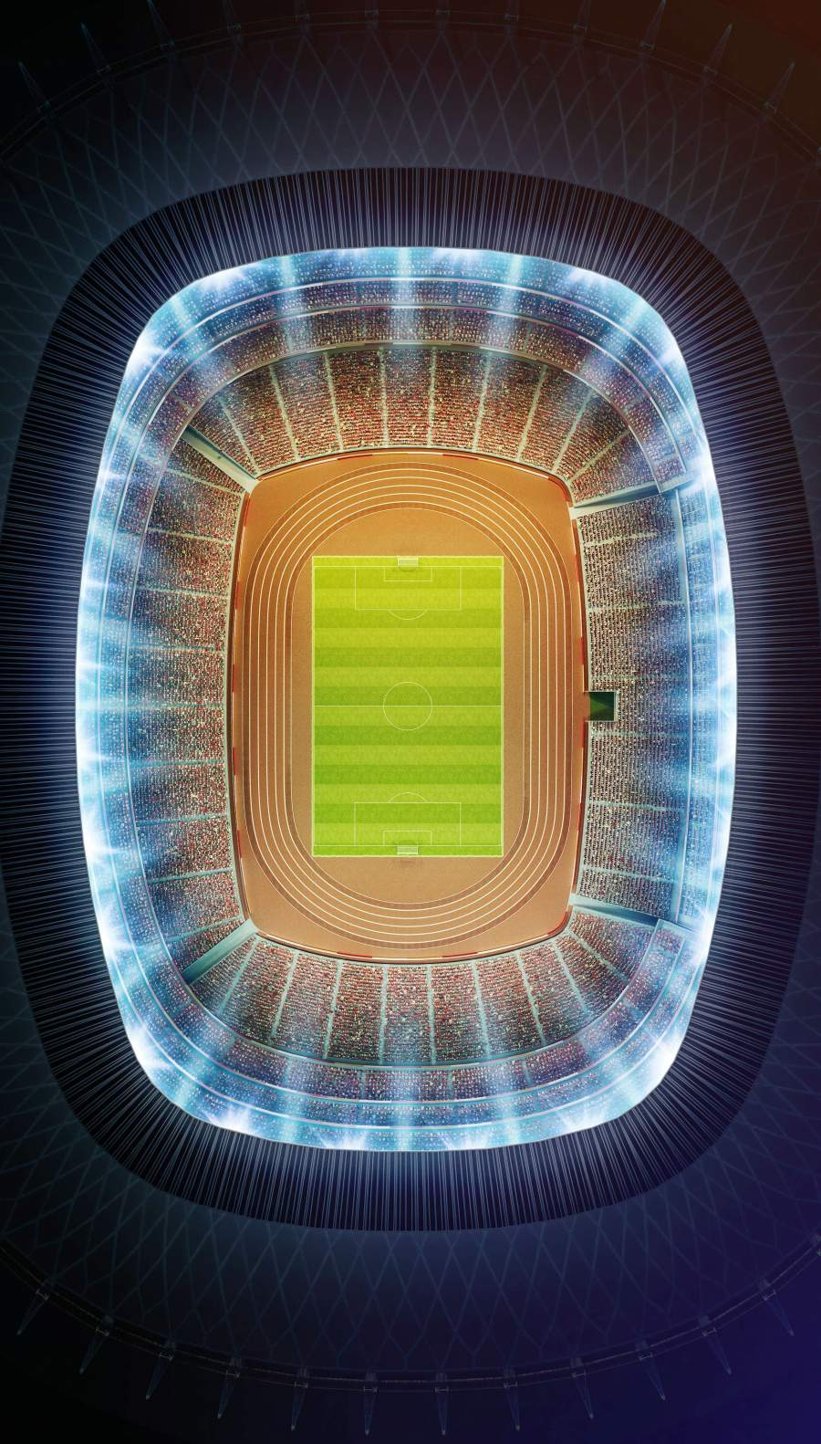 Soccer Pitch iPhone Wallpaper
