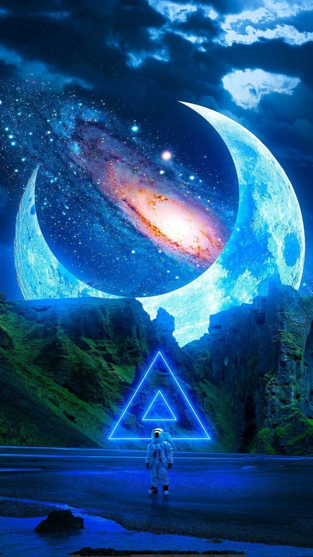 Space Triangles iPhone Wallpaper