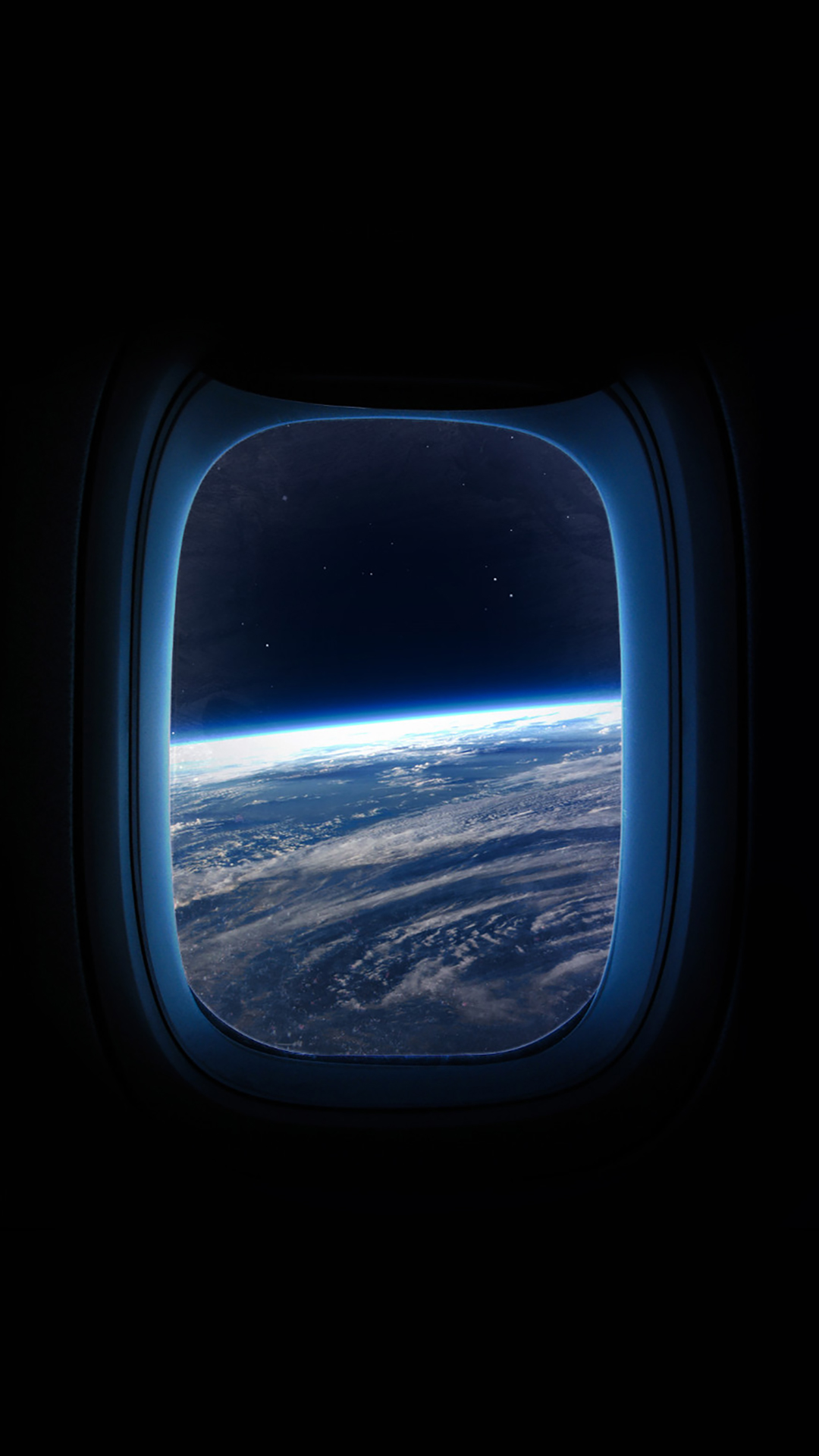 Space Window iPhone Wallpaper