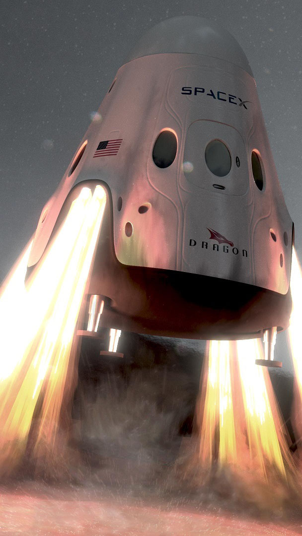 SpaceX Dragon Spacecraft iPhone Wallpaper