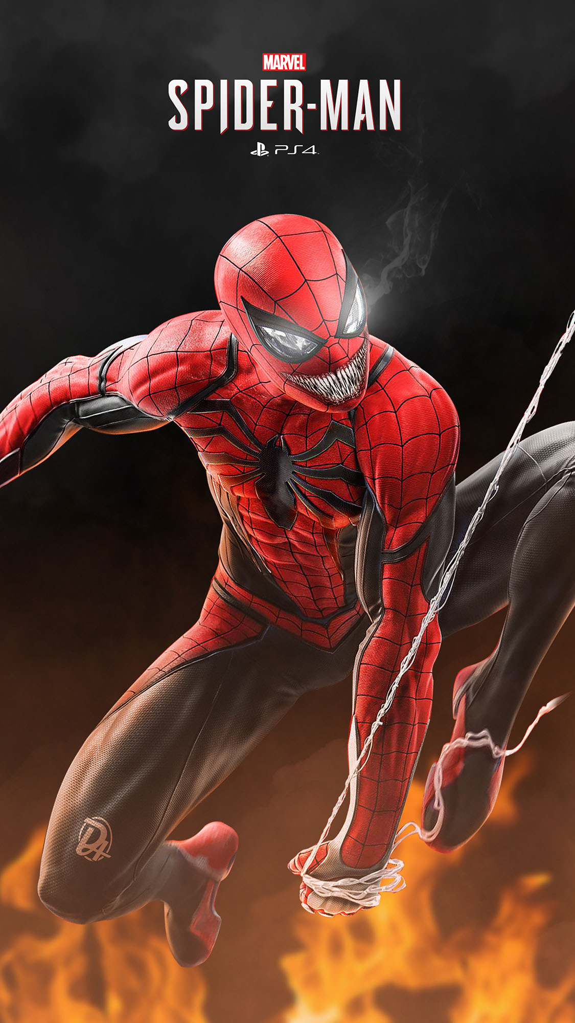 Spider Venom iPhone Wallpaper