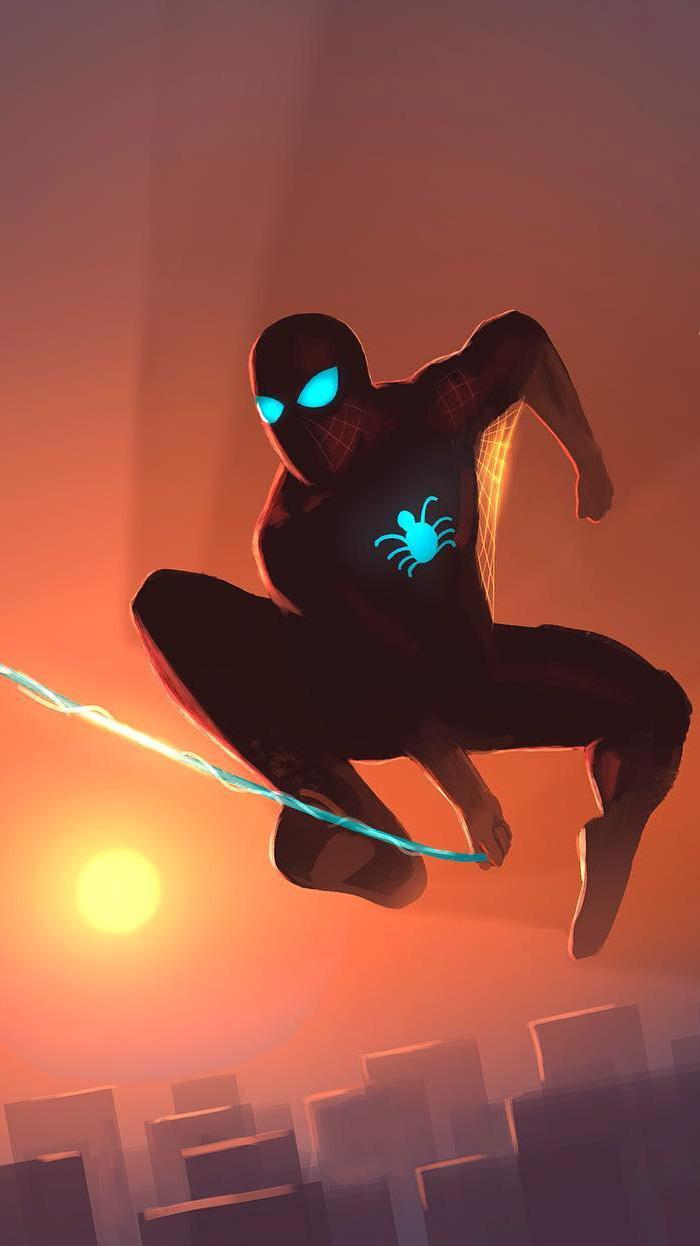 Spiderman Art iPhone Wallpaper
