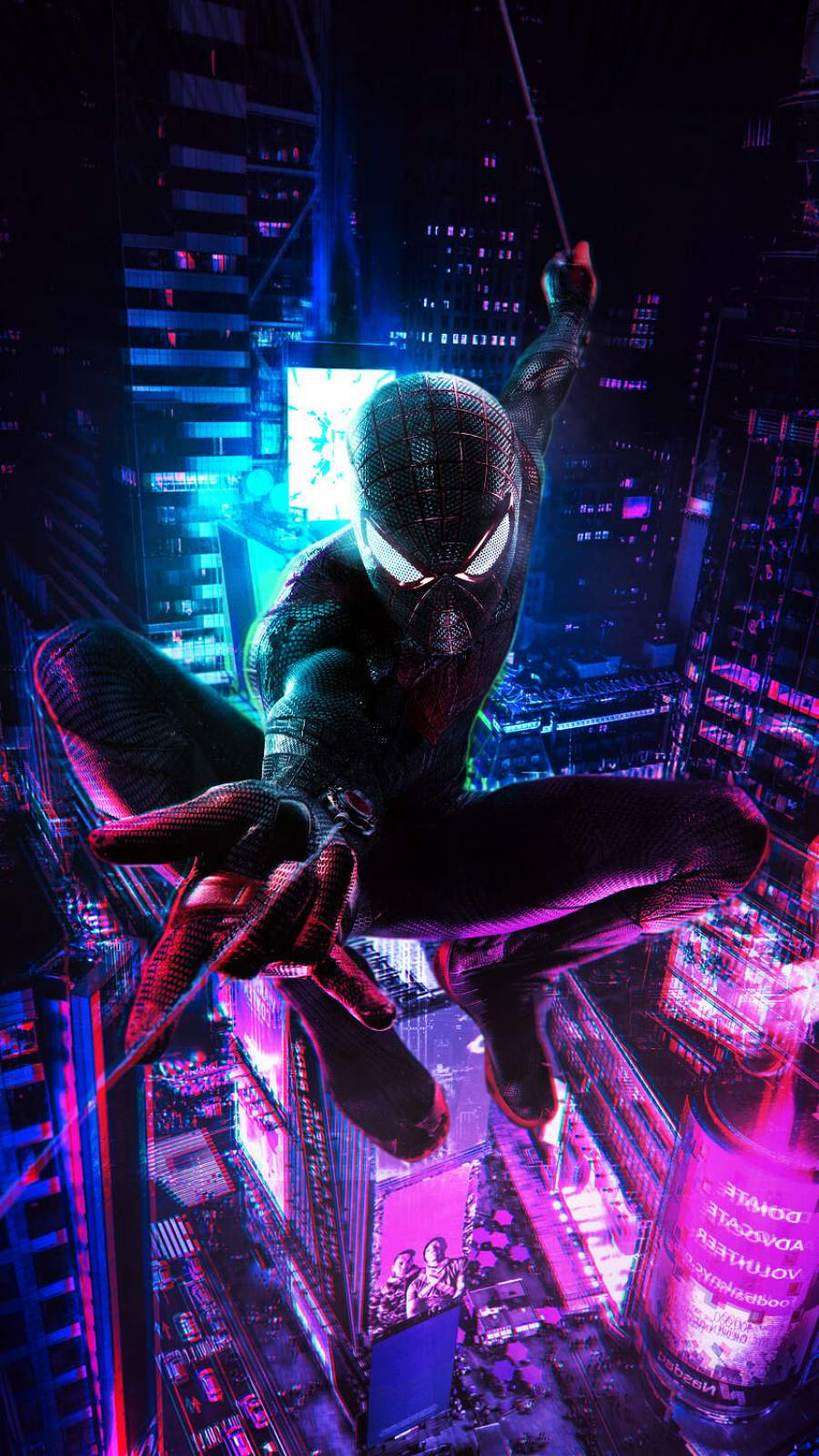 Spiderman Cyberpunk iPhone Wallpaper