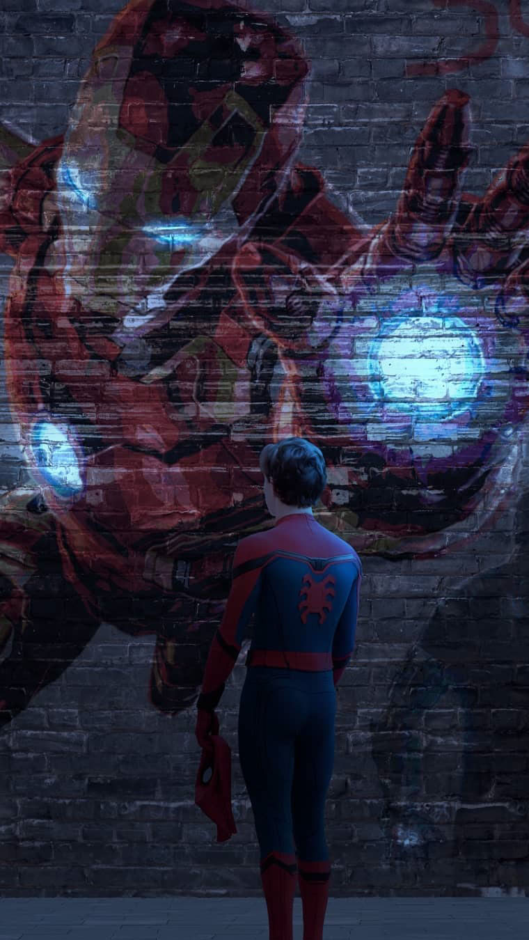 Spiderman Everywhere I Go I See His Face iPhone Wallpaper