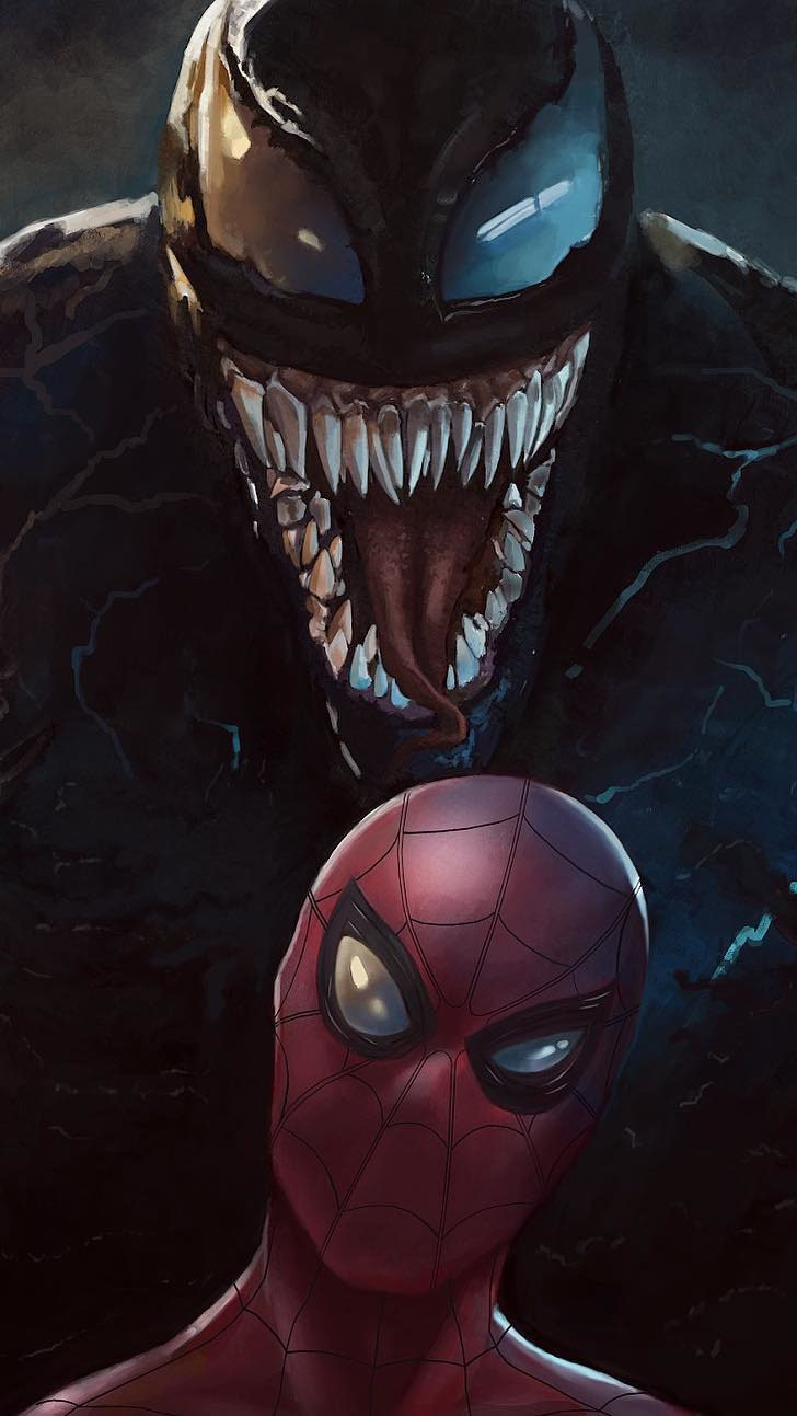 Spiderman and Venom iPhone Wallpaper