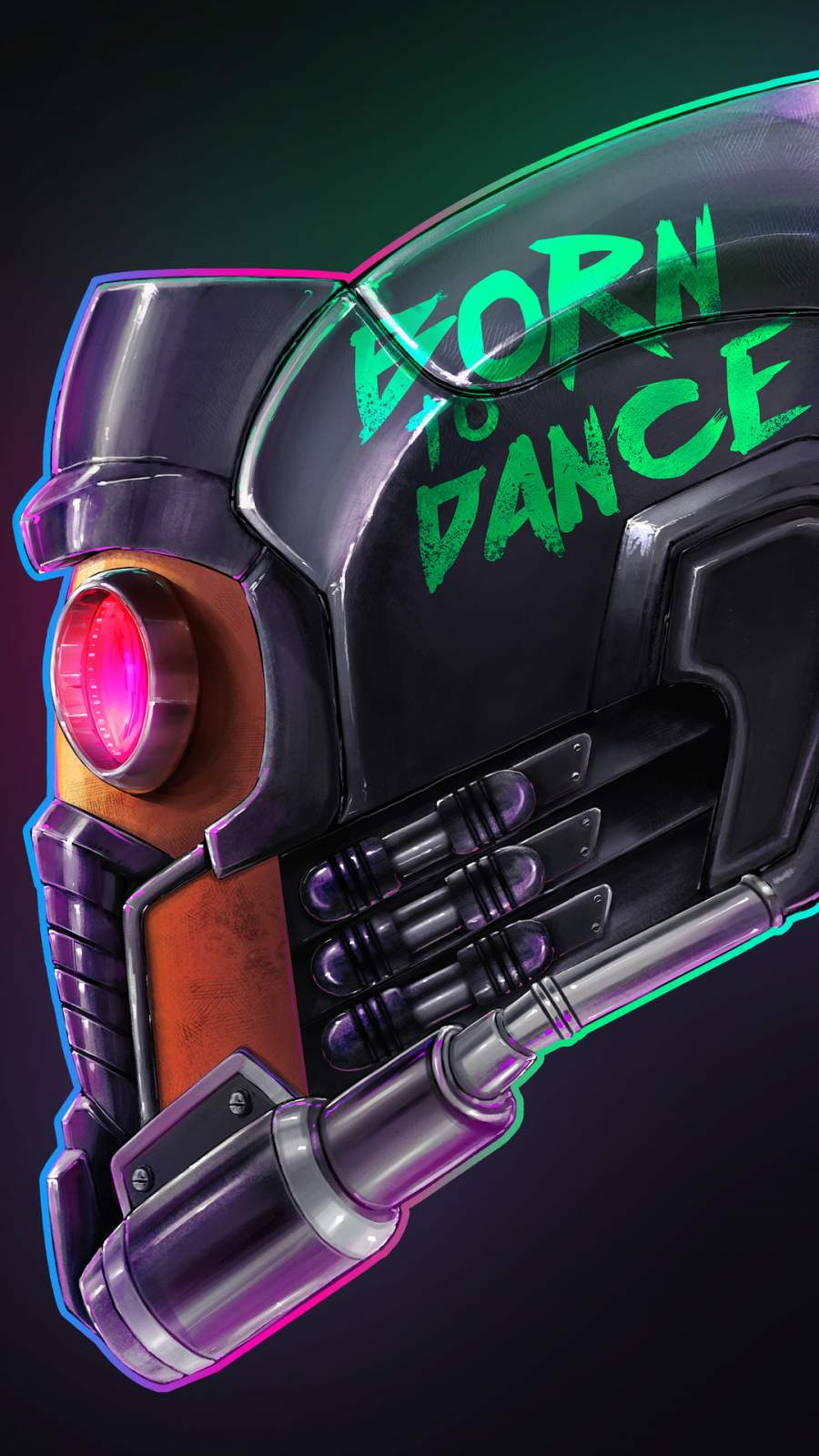 Star Lord Helmet iPhone Wallpaper