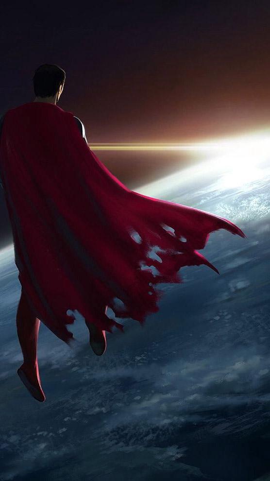 Superman and Horizon iPhone Wallpaper
