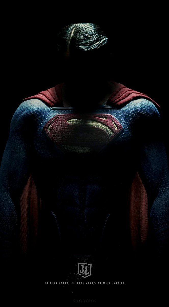 Superman in Dark iPhone Wallpaper