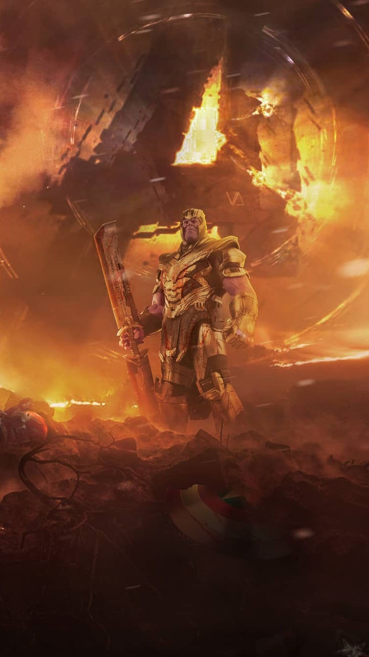 Thanos Arrived on Earth iPhone Wallpaper
