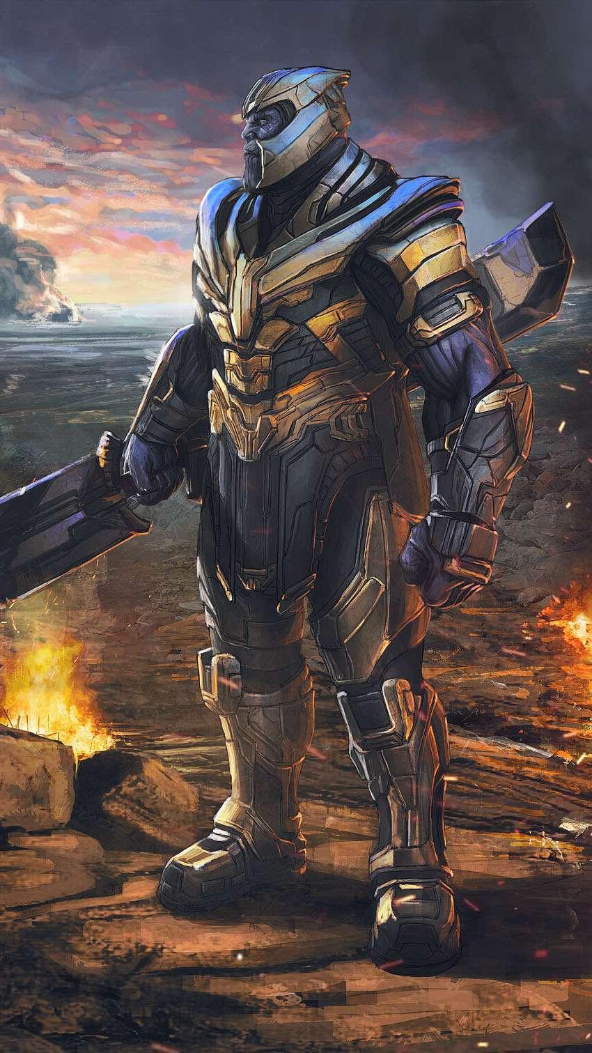 Thanos Endgame iPhone Wallpaper