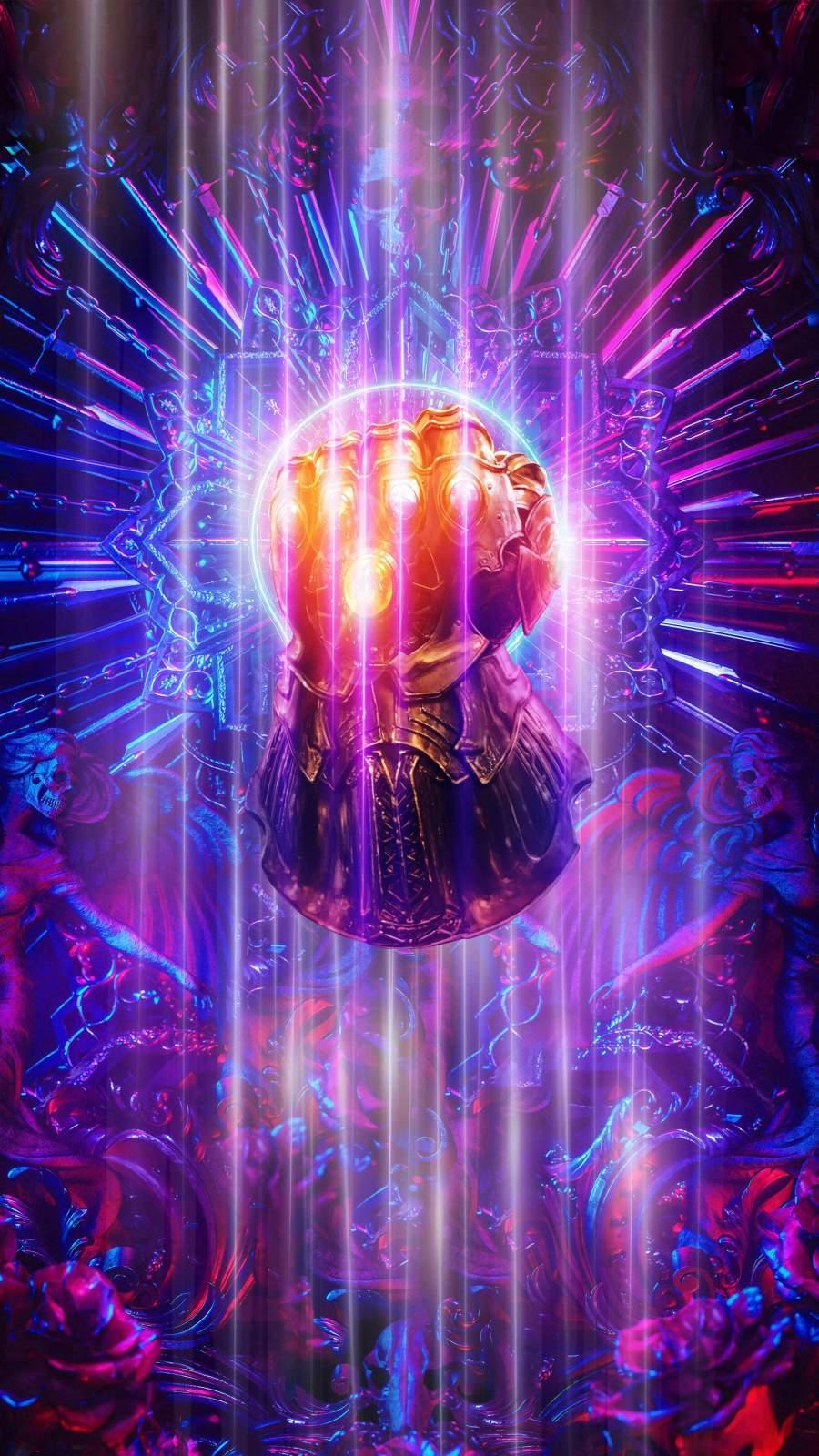 Thanos Infinity Gauntlet iPhone Wallpaper