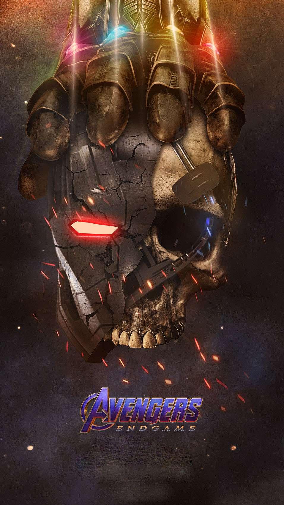Thanos vs Iron Man iPhone Wallpaper